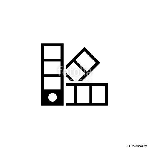 500x500 Palette Pantone Color. Flat Vector Icon. Simple Black Symbol On