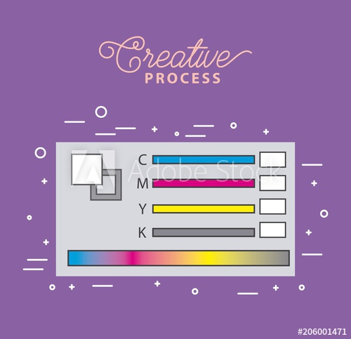 500x483 Pantone Swatch Color Working Process Tools Vector Illustration