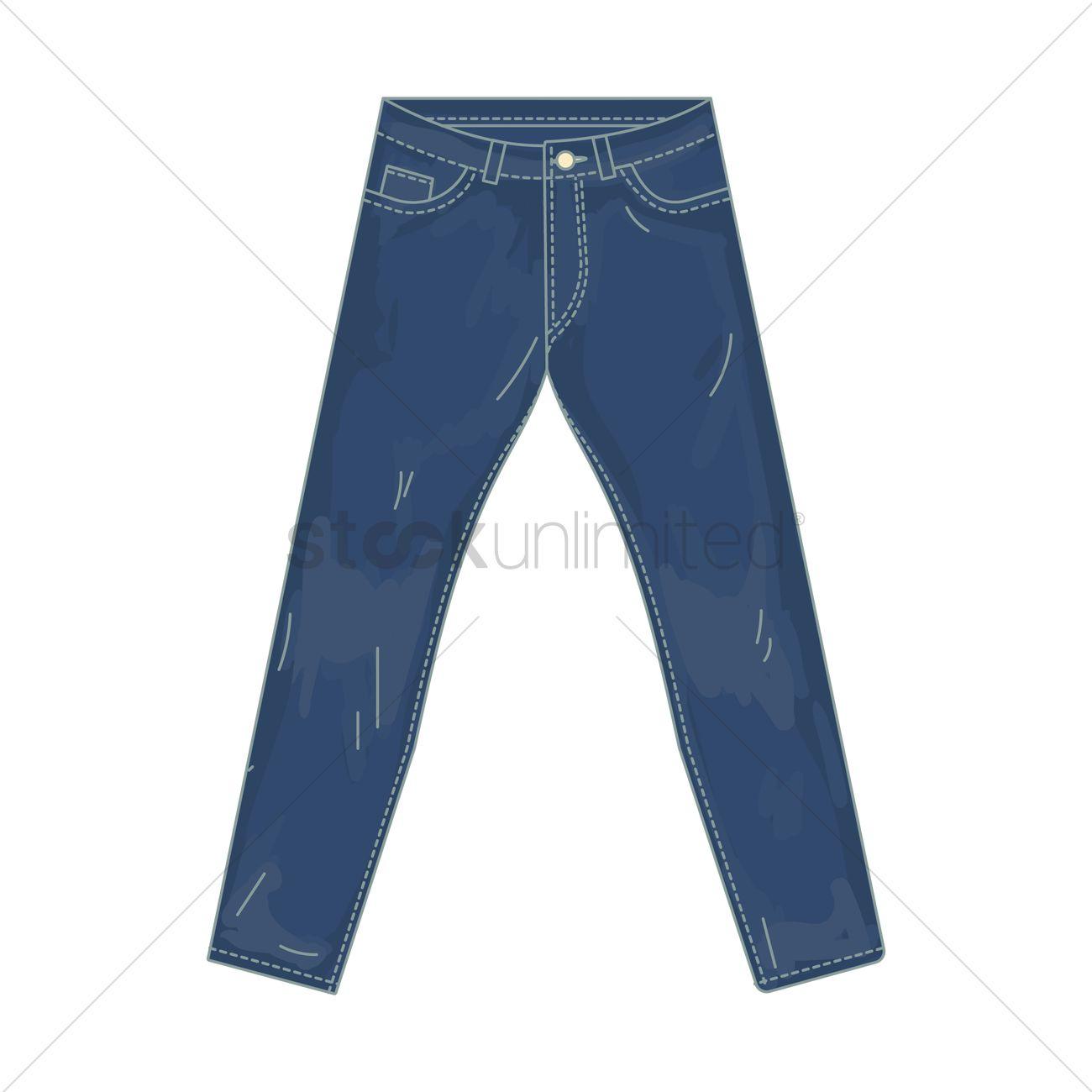 1300x1300 Long Denim Pants Vector Image