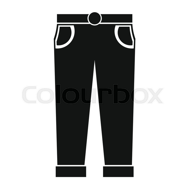 800x800 Pants In Black Simple Silhouette Style Icons Vector Illustration