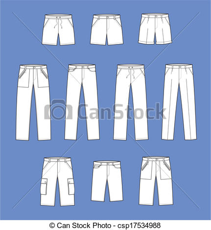 431x470 Pants. Vector Illustration Of Pants.