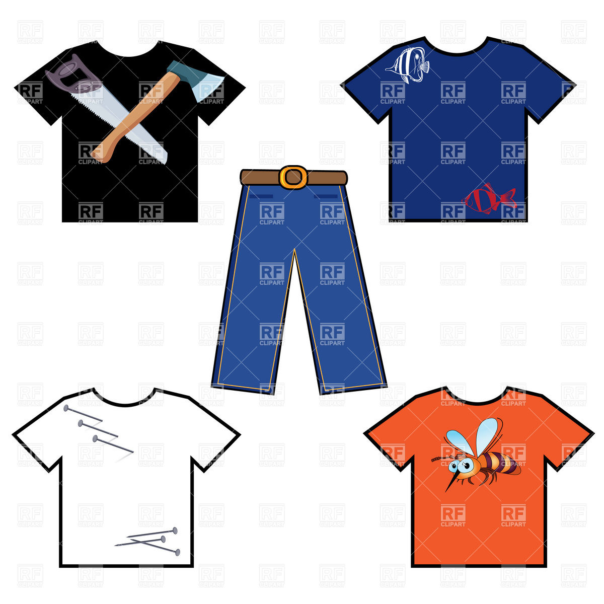 1200x1200 Simple T Shirt And Pants Vector Image Vector Artwork Of Beauty