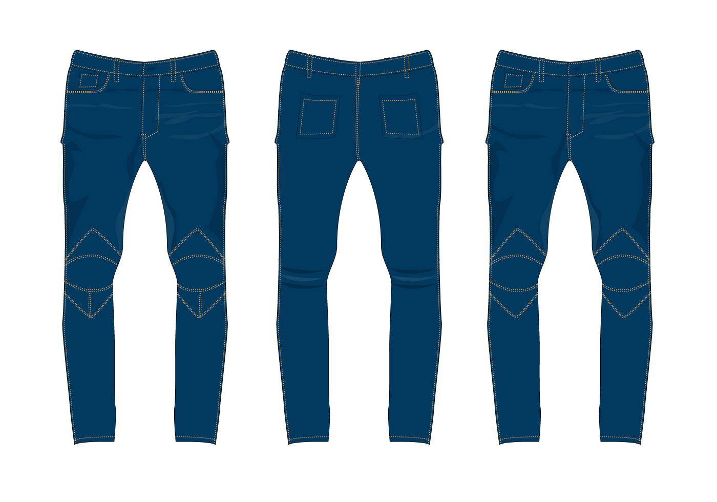 1400x980 Free Jeans Pants Vector