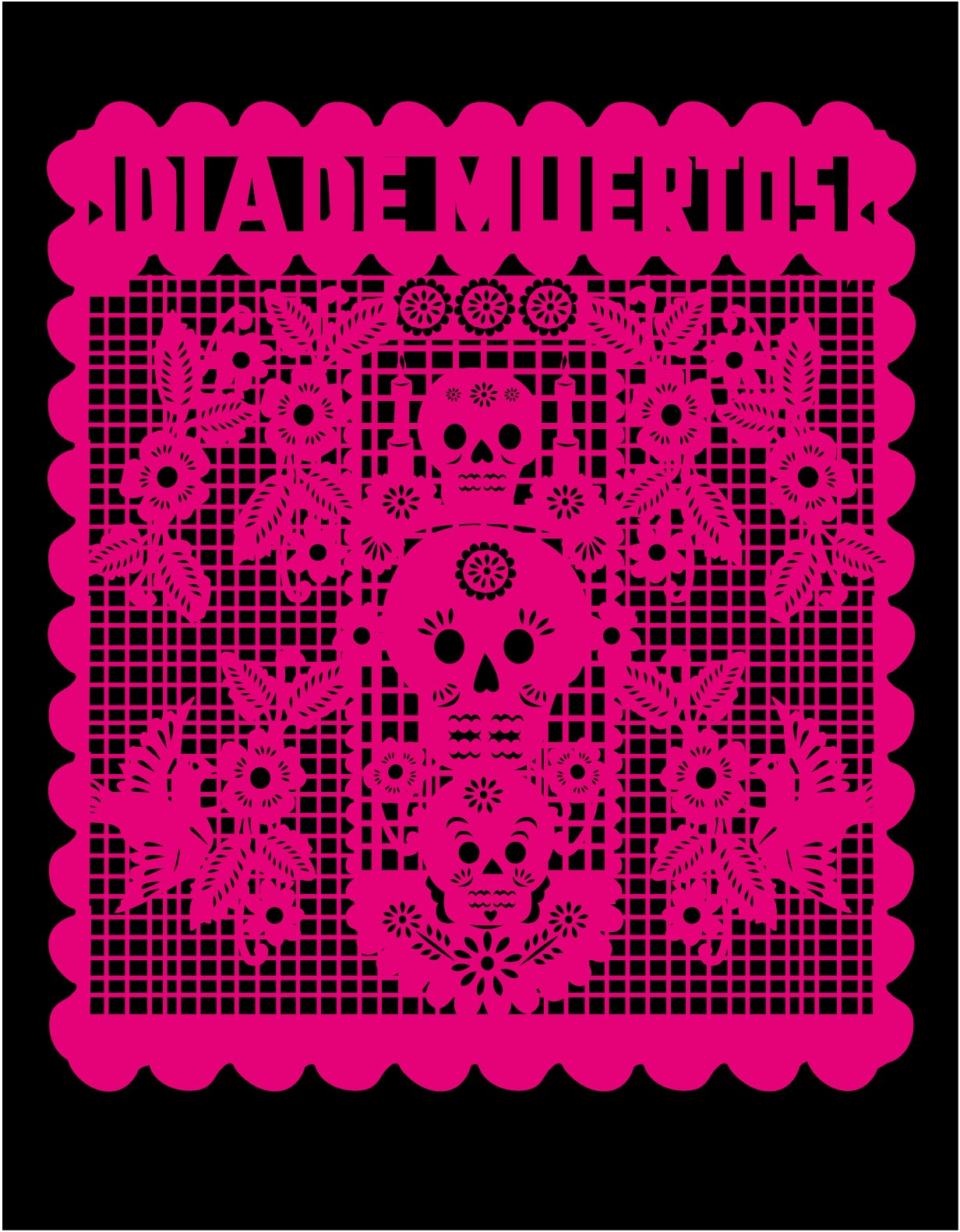 1232x1582 My First Vector Papel Picado Design! Beenznrice