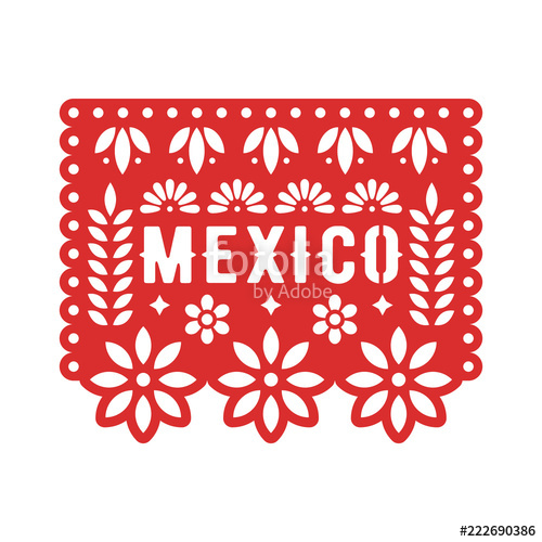 500x500 Papel Picado, Mexican Paper Decorations For Party. Cut Out