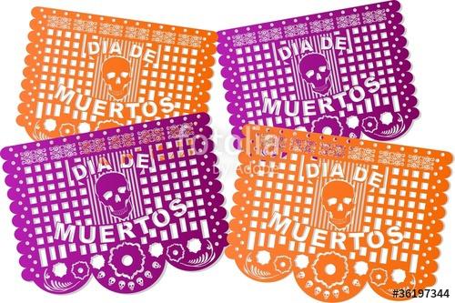 500x333 Papel Picado De Muertos Stock Image And Royalty Free Vector