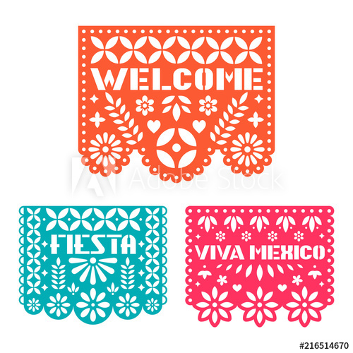 500x500 Paper Greeting Card With Cut Out Flowers, Shapes And Text. Papel