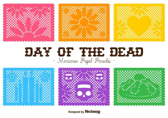 700x490 Vector Day Of The Dead Cut Out Paper Compositions
