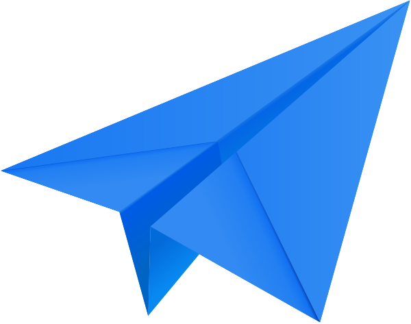 600x473 Paper Airplane Vector Blue Paper Plane Paper Aeroplane Vector Icon