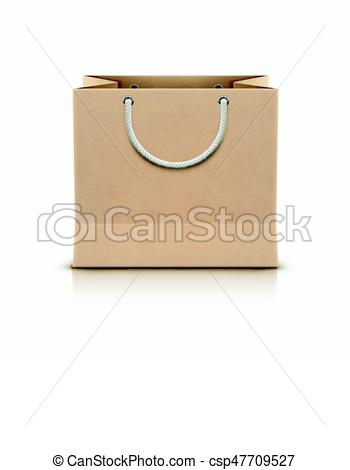 350x470 Shopping Paper Bag. Vector Illustration Of Paper Shopping Paper