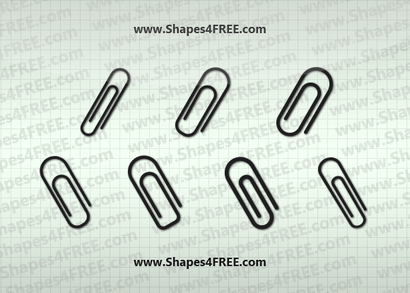 580x415 7 Paperclip Photoshop Amp Vector Shapes Photoshop Custom Shapes