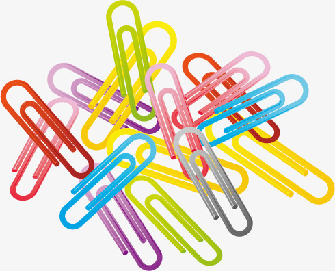 490x396 Vector Colored Paper Clips, Paper Vector, Paper Clip, Daily Png