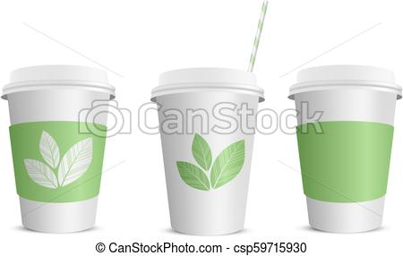 450x286 Paper Coffee Cup. Vector Realistic Blank Paper Coffee Cup Isolated