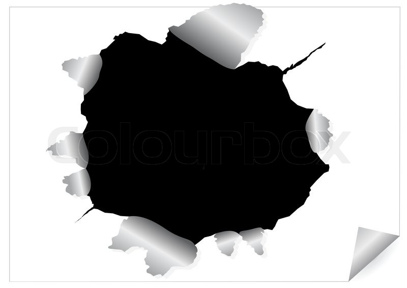 Paper Hole Vector