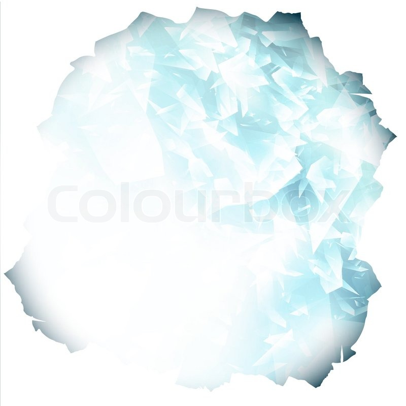 800x799 Paper Hole With Glass Or Blue Ice Background Stock Vector