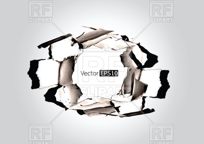 400x283 Paper Hole With Torn Vector Image Vector Artwork Of Backgrounds