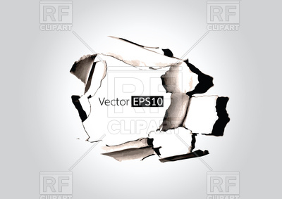 400x283 Paper Hole With Torn Vector Image Vector Artwork Of Signs