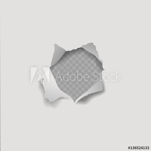 500x500 Realistic Vector Paper Hole On Transparent Background.