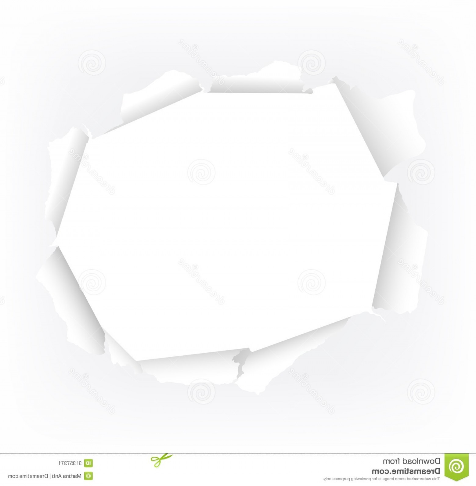 1560x1593 Stock Image Torn Paper Hole Vector Illustration White Image