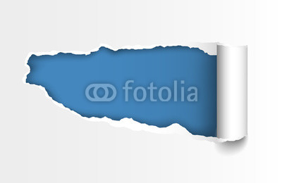 400x260 Vector Realistic Torn Paper Hole With Curled Edge And Space For