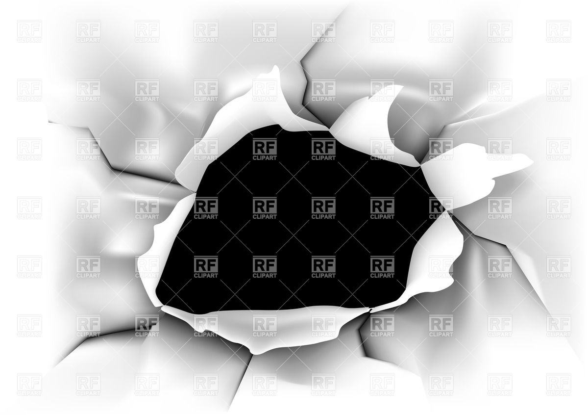 1200x846 White Paper With Black Hole Vector Image Vector Artwork Of