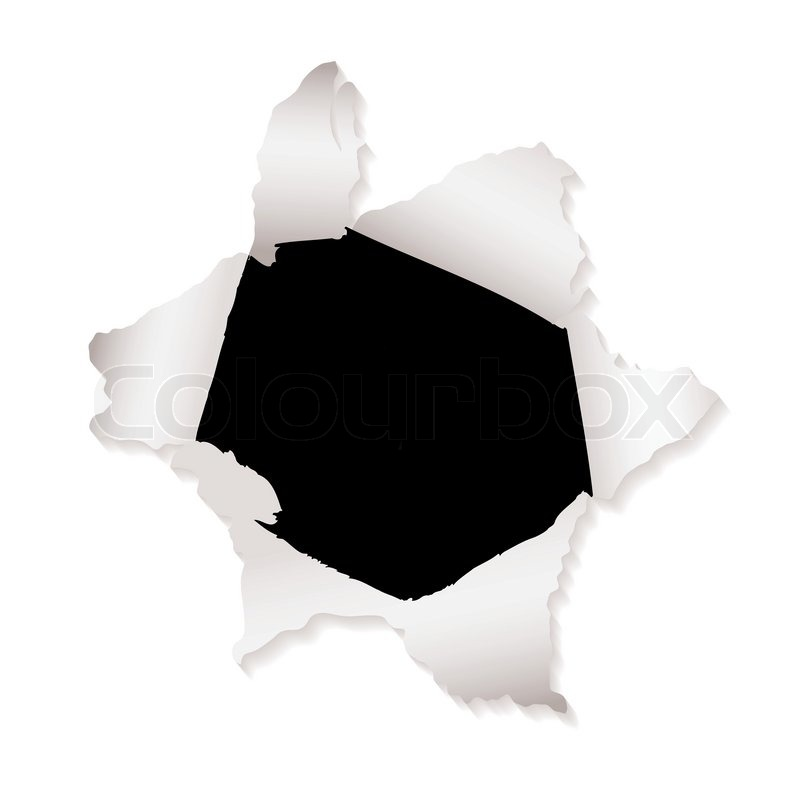 800x800 White Paper With Torn Paper Hole And Ripped Elements Stock