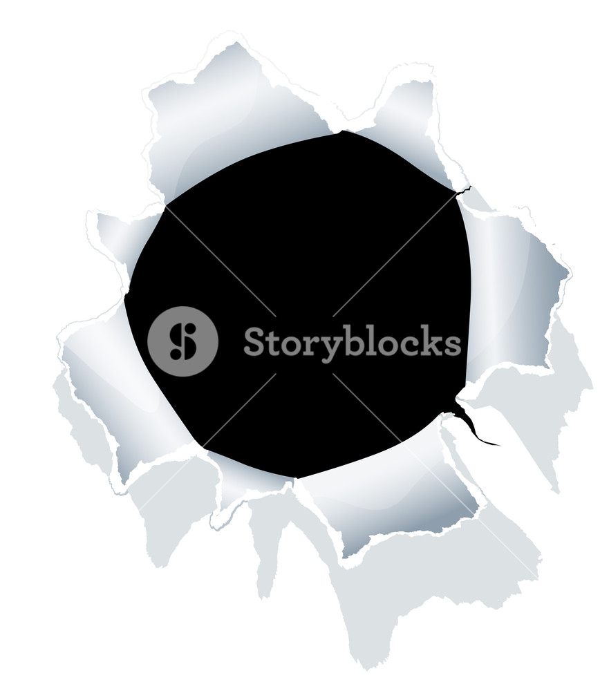881x1000 Hole In White Paper. Vector. Royalty Free Stock Image