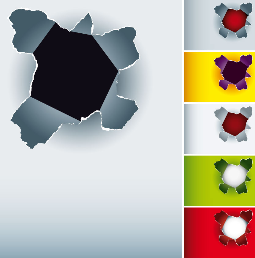 834x843 Hole In The Paper Vector Free Vector 4vector