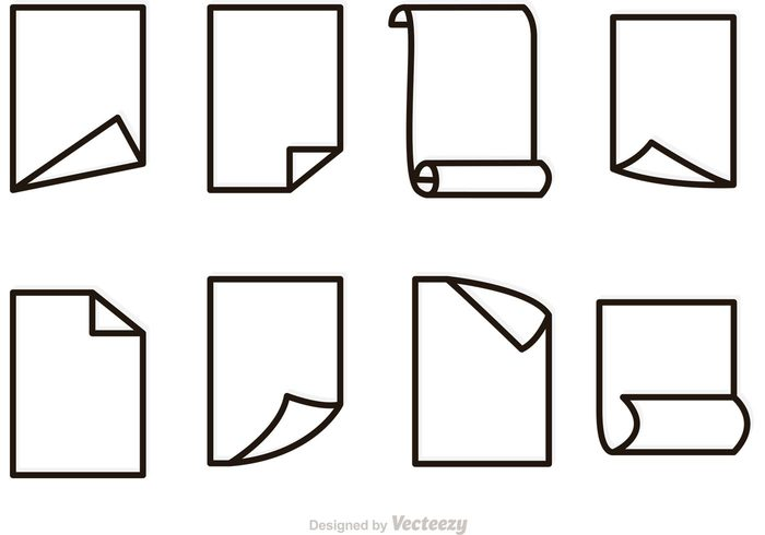 700x490 Free Vector Paper Outline Icons Set 139046
