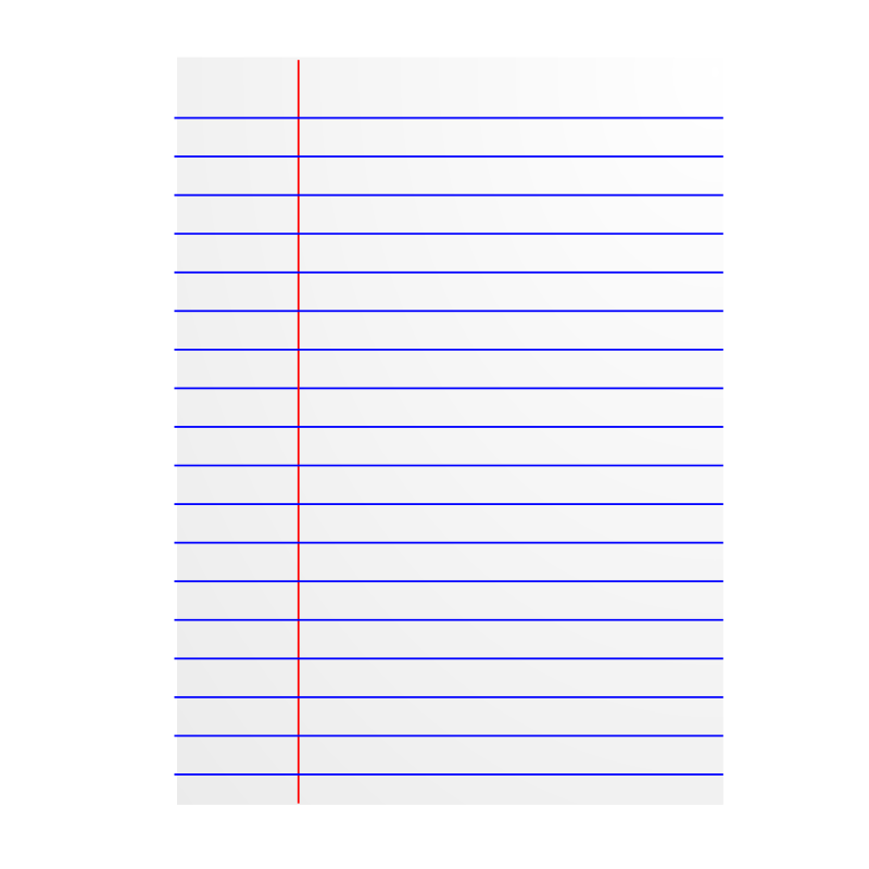 800x800 Lined Paper Icon Free Vector 4vector
