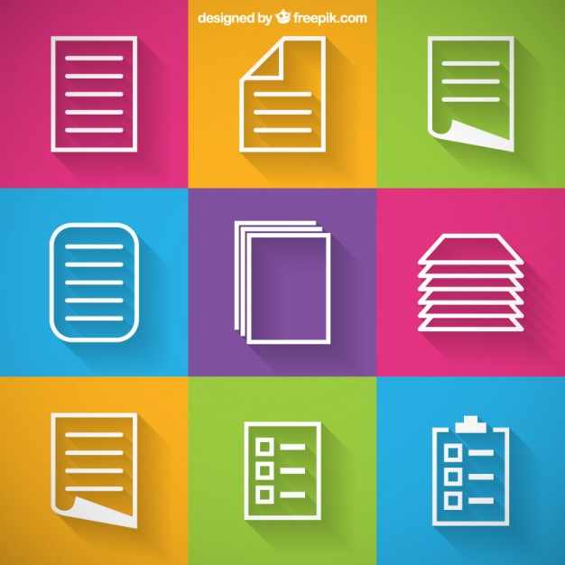 626x626 Paper Icons Vector Free Download