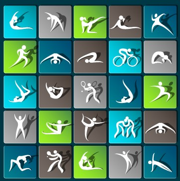 362x364 Sports Paper Icons Vector Set 02 Free Download