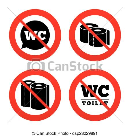 450x470 Toilet Paper Icons. Gents And Ladies Room. No, Ban Or Stop Signs