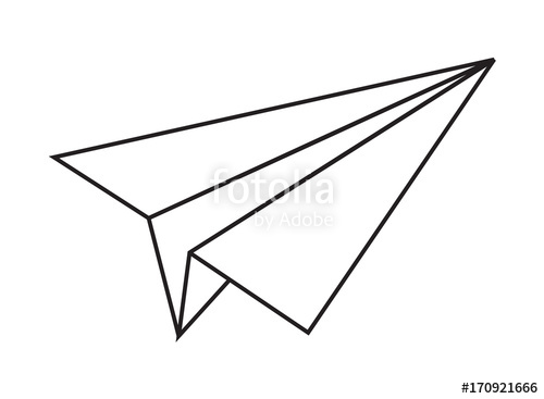 500x367 Origami Paper Plane Vector Shape Stock Image And Royalty Free