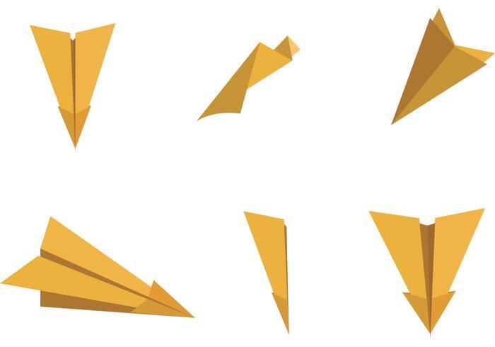700x490 Paper Plane Vector Illustrations