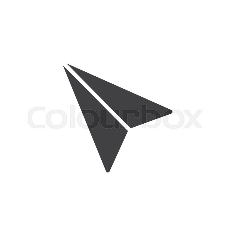 800x800 Paper Plane Vector Icon. Filled Flat Sign For Mobile Concept And