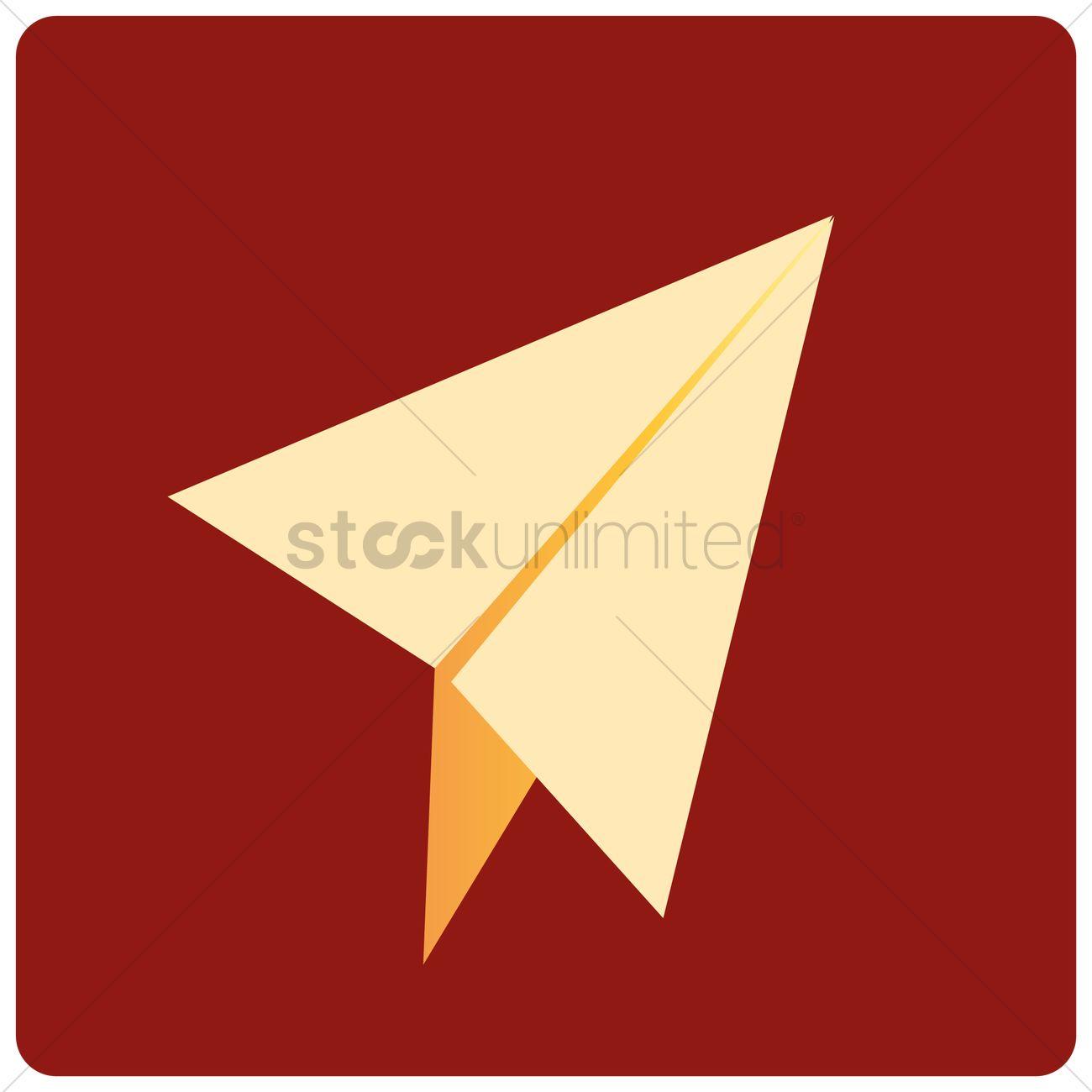 1300x1300 Paper Plane Vector Image