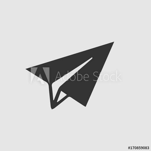 500x500 Paper Plane Vector Icon Eps 10. Origami Airplane Illustration