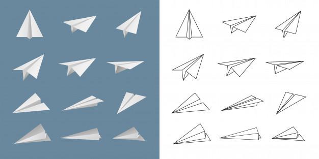 626x313 Paper Plane Vector Set. Vector Premium Download