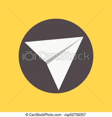 450x470 Simple Send Button Paper Plane Vector Graphic Illustration Design.