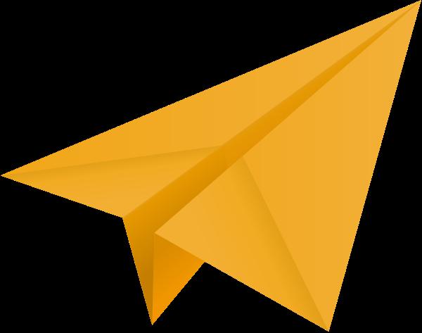 600x473 Light Orange Paper Plane, Paper Aeroplane Vector Icon Data For