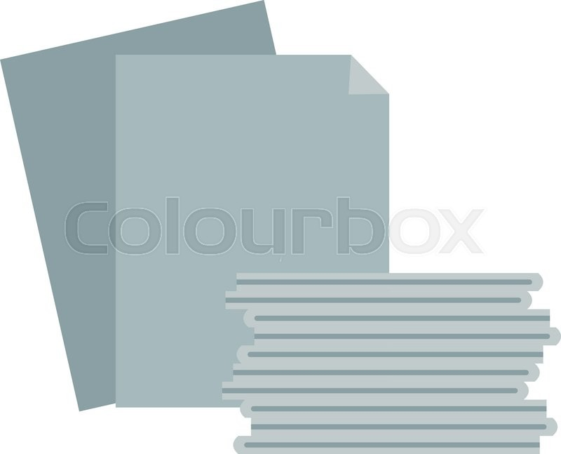 800x647 Paper Stack Vector. Paper Stack Illustration. Paper Stack Isolated
