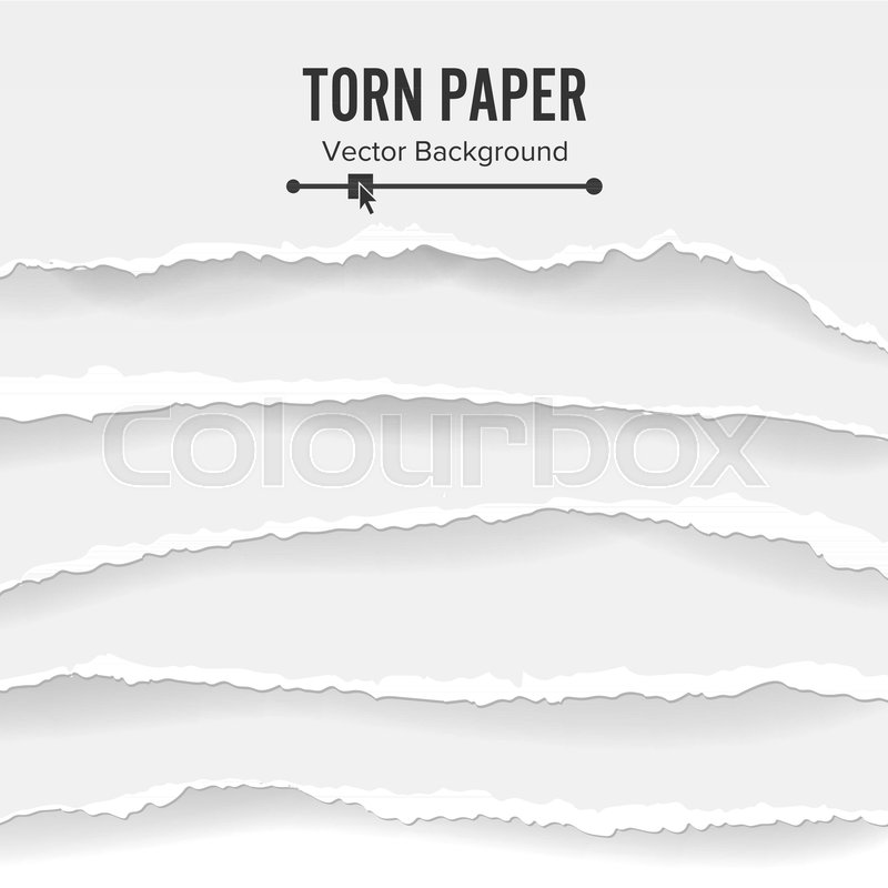 800x800 Torn Paper Blank Vector. Collection Of White Torn Paper. Ripped