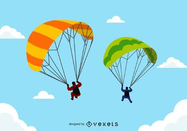 371x260 Parachute Vector Graphics To Download