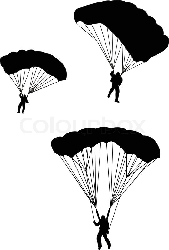 540x800 Silhouette Of Sky Diver With Open Parachute