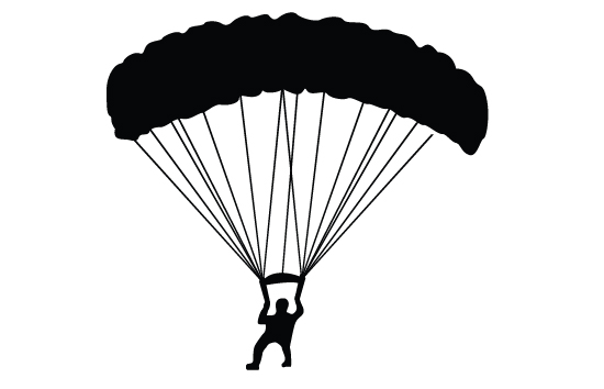 550x354 Skydiving Vector Parachute Silhouette Vector Free Download Dive