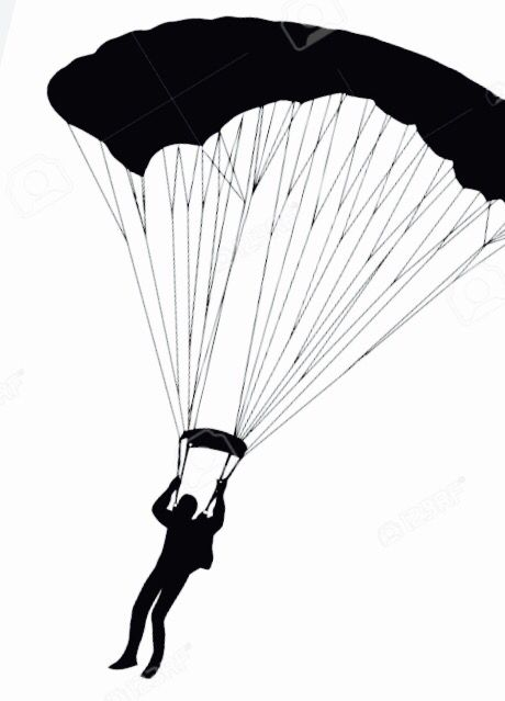 460x639 Skydiving Vector Pix For Parachute Clipart Vector