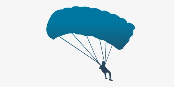 600x300 Vector Blue Parachute, Vector, Blue, Parachute Png Image And