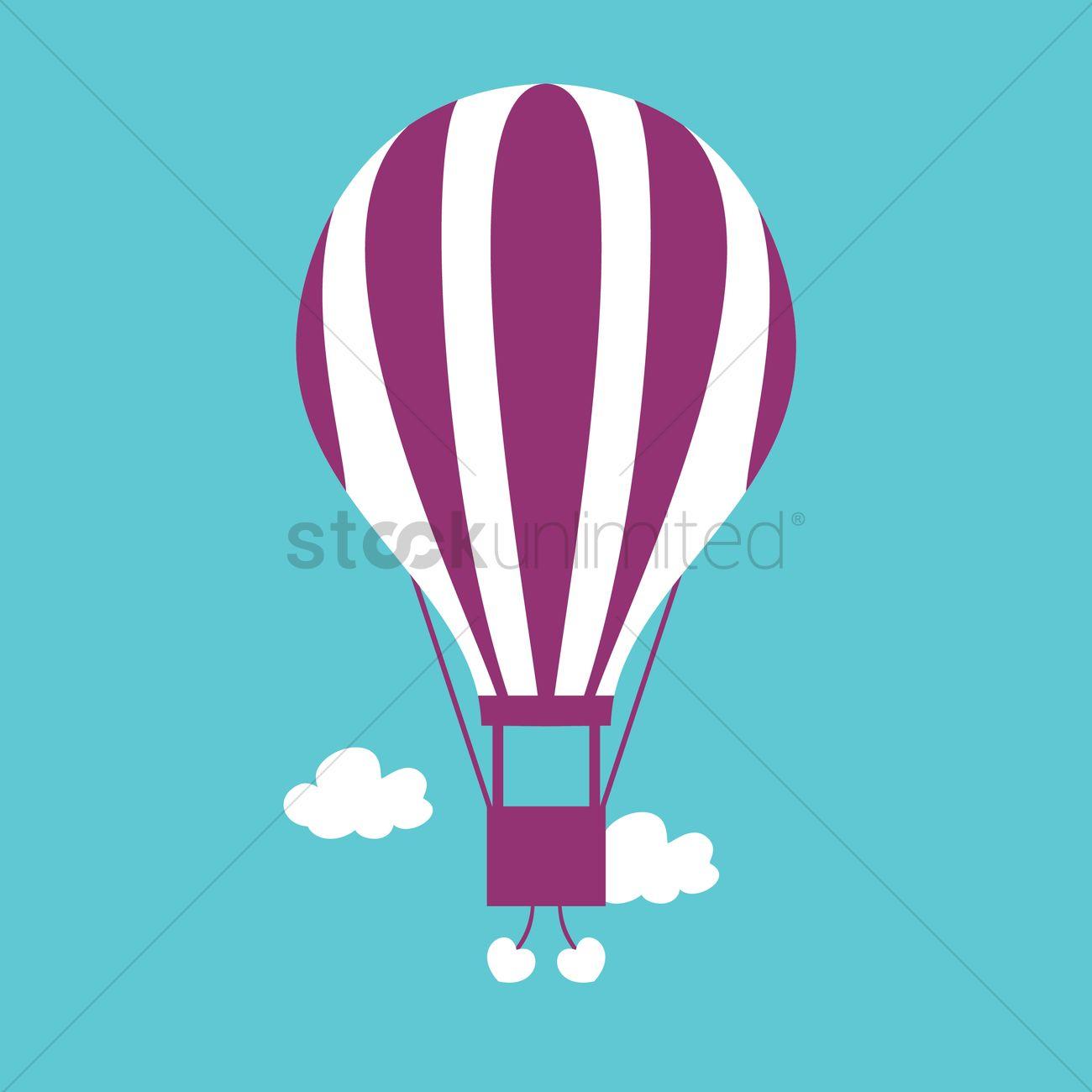 1300x1300 Basket Parachute Vector Image