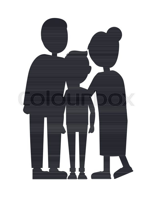 637x800 Family Silhouette Isolated On White Background, Son With Parents